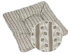 Sedák prošívaný Adéla 40x40 cm cibulák béžový
