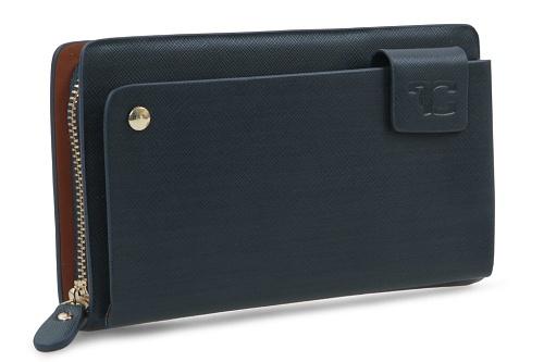 2in 1 luxusní pánská peněženka a pouzdro kobaltová