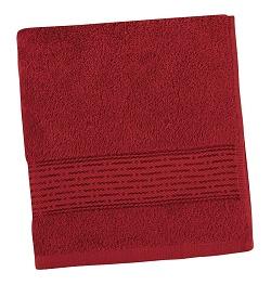 Froté ručník proužek 50x100 cm bordová