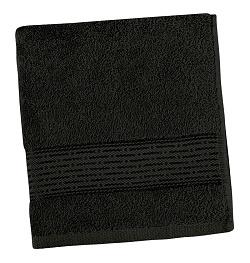 Froté ručník proužek 50x100 cm černá