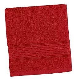 Froté ručník proužek 50x100 cm červená