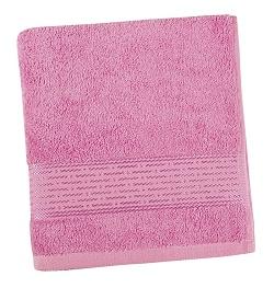 Froté ručník proužek 50x100 cm růžová