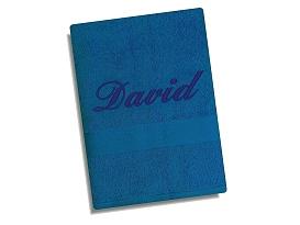 Ručník se jménem - modrá 50x100 cm modrá, tm.výšivka