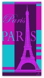 Plážová osuška Paris 90x170 cm
