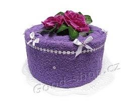 Textilní dort 1P-1 1patrový fialový