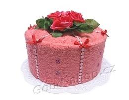 Textilní dort 1P-2 1patrový malinový