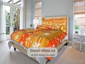 Povlečení krepové 140x200,70x90 cm Liana oranžová
