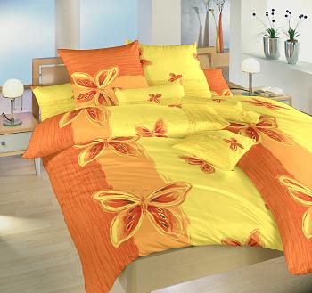 Náhradní polštář krepový 70x90 cm Motýl žlutý