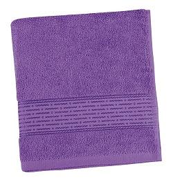 Froté ručník proužek 50x100 cm fialová
