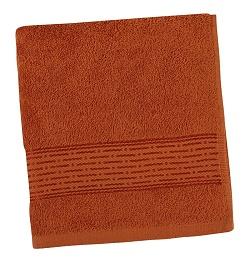 Froté ručník proužek 50x100 cm terra
