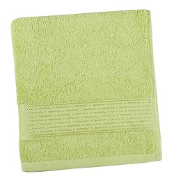 Froté ručník proužek 50x100 cm světle zelená