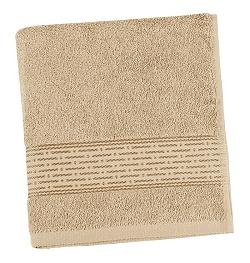 Froté ručník proužek 50x100 cm tmavě béžová