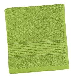 Froté ručník proužek 50x100 cm olivová