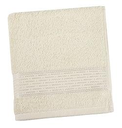 Froté ručník proužek 50x100 cm béžová