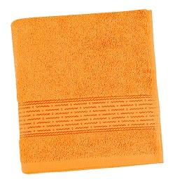 Froté ručník proužek 50x100 cm oranžová