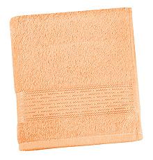 Froté ručník proužek 50x100 cm lososová