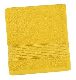 Froté ručník proužek 50x100 cm žlutá