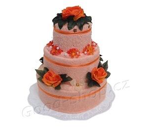 Textilní dort 3P-7 meruňkový 3patrový (2+2) meruňkový