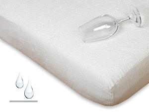 Nepropustné prostěradlo froté s polyuretanem 70x160 cm bílá