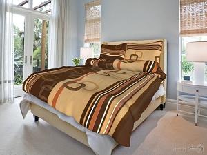 Povlečení bavlna 140x200,70x90 Tonda hnědý