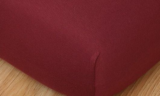 Prostěradlo jersey vysoká matrace 90x200 bordó