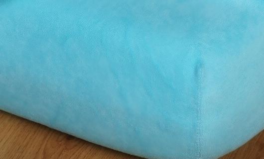 Prostěradlo jersey vysoká matrace 90x200 světlý tyrkys