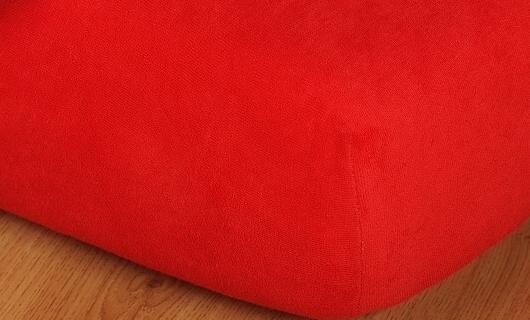 Prostěradlo jersey vysoká matrace 90x200 červená