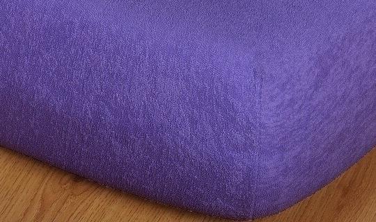 Prostěradlo froté vyšší matrace 90x200 cm purpur