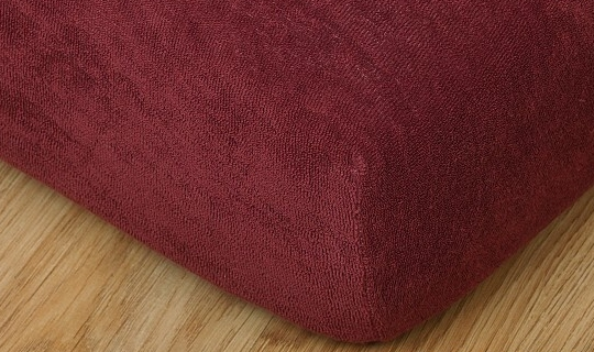 Prostěradlo froté na masážní lůžko 60x190 cm bordó