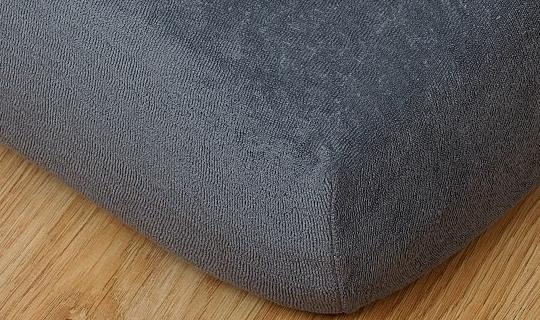 Prostěradlo froté vyšší matrace 90x200 cm tmavě šedá