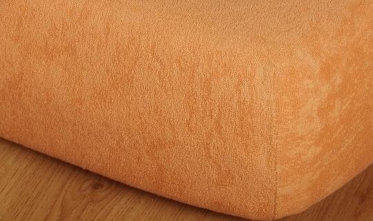 Prostěradlo froté vyšší matrace 90x200 cm karamel