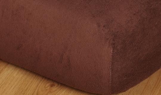 Prostěradlo froté na masážní lůžko 60x190 cm tm.hnědá