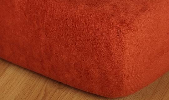 Prostěradlo froté na masážní lůžko 60x190 cm cihlová