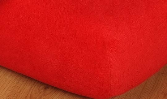Prostěradlo froté vyšší matrace 90x200 cm červená