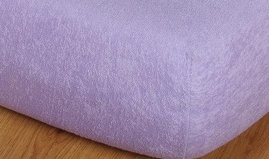 Prostěradlo froté 220g 90x200 cm fialová