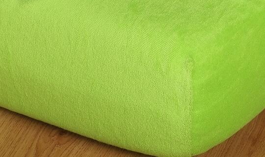 Prostěradlo froté vyšší matrace 90x200 cm kiwi