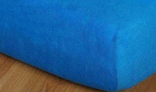 Prostěradlo froté vyšší matrace 90x200 cm král.modř