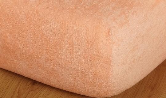 Prostěradlo froté na masážní lůžko 60x190 cm meruňka