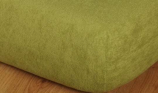 Prostěradlo froté vyšší matrace 90x200 cm olivová