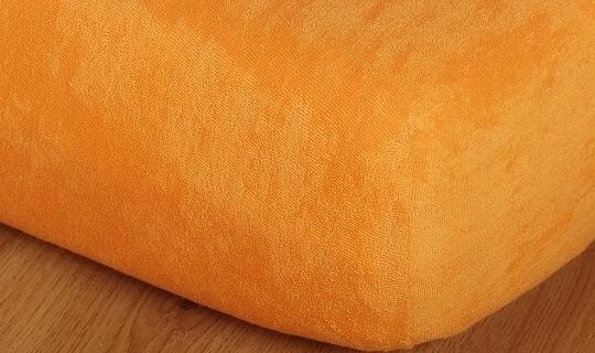 Prostěradlo froté 220g 90x200 cm pomeranč