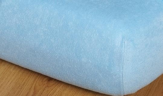 Prostěradlo froté vyšší matrace 90x200 cm sv.modrá