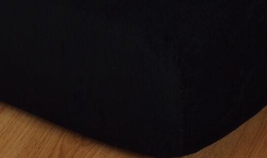 Prostěradlo froté vyšší matrace 90x200 cm černá