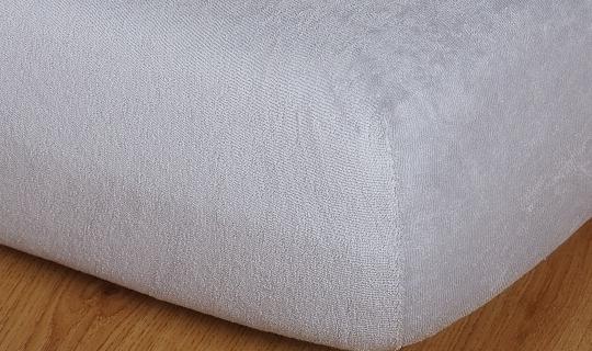 Prostěradlo froté vyšší matrace 90x200 cm šedá