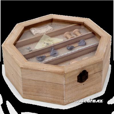 Dekorativní box na drobnosti a šicí potřeby