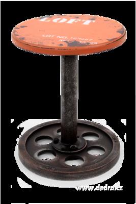 Kulatá židle LOFT na kovové noze oranžová