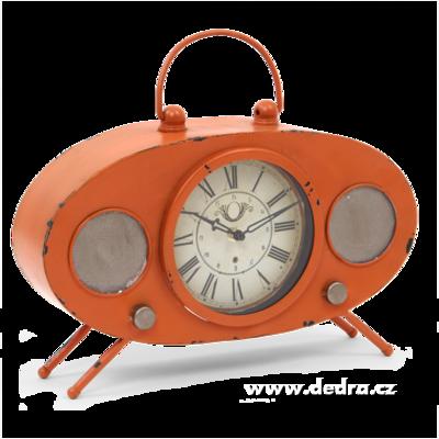 Velké kovové hodiny design retro rádia