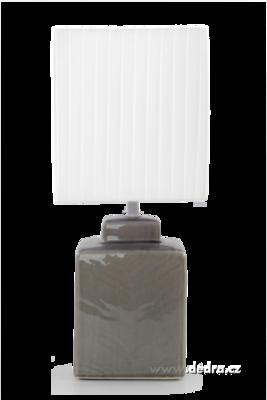 CUBE stolní lampa šedá