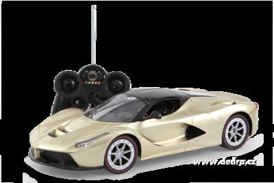 Sportovní auto bezdrátové ovládání zlaté