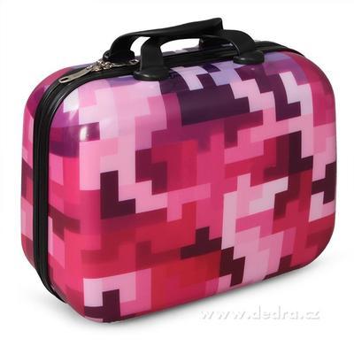 Kufr příruční větší pink tetris 37 x 17 x 30 cm