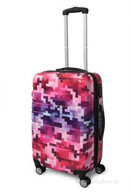 Kufr menší pink tetris 37 x 23 x 50 cm